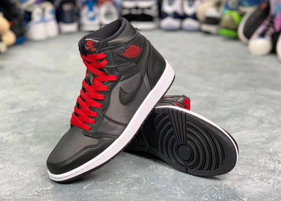 Air Jordan 1 Satin Black Gym Red 555088 060 Release Date Sbd