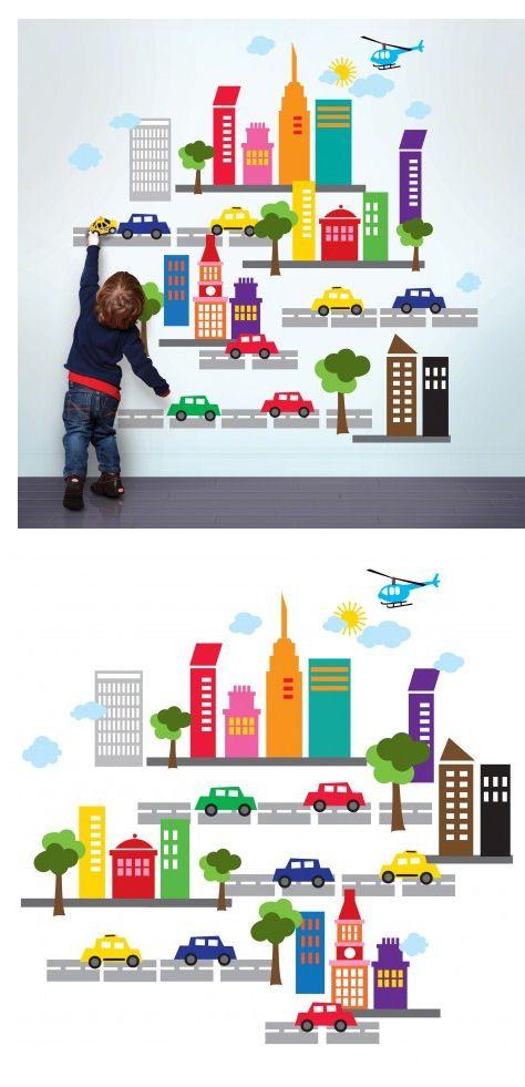 Wallcandy Arts French Bull City Wall Decals - Wall Sticker ...