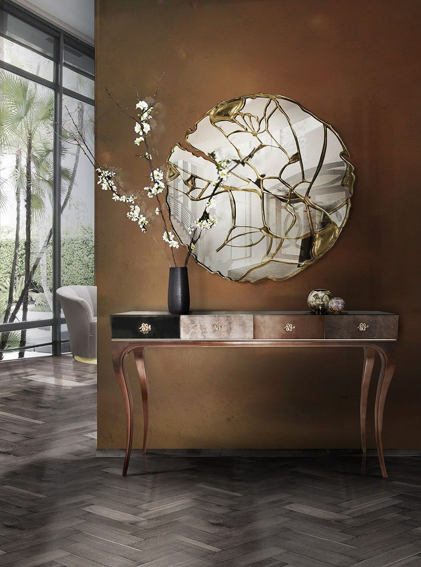 The Glance Mirror tells us the story about crossroads of life and the reason among the chaos. | www.bocadolobo.com #bocadolobo #luxuryfurniture #exclusivedesign #interiodesign #designideas #contemporarymirror #glance #defragmentedmirror