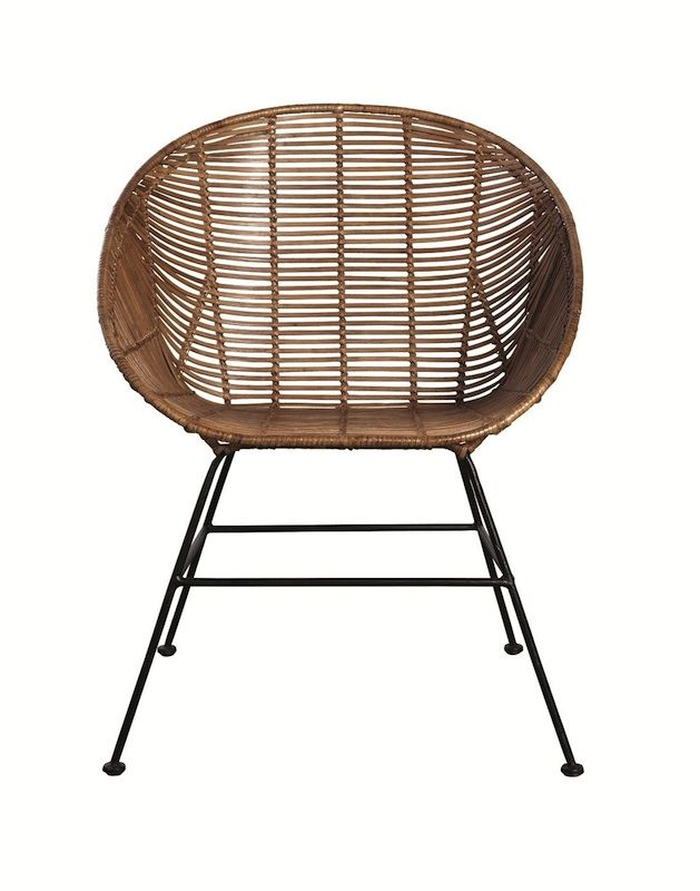 Retro Rattan Furniture Dining Chairs Wicker