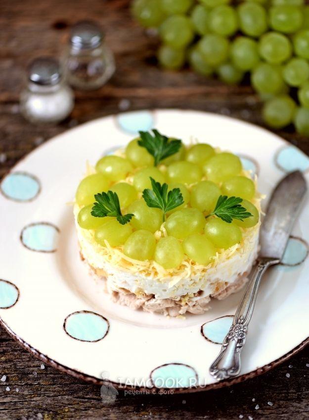 Салат с виноградом и курицей картинки