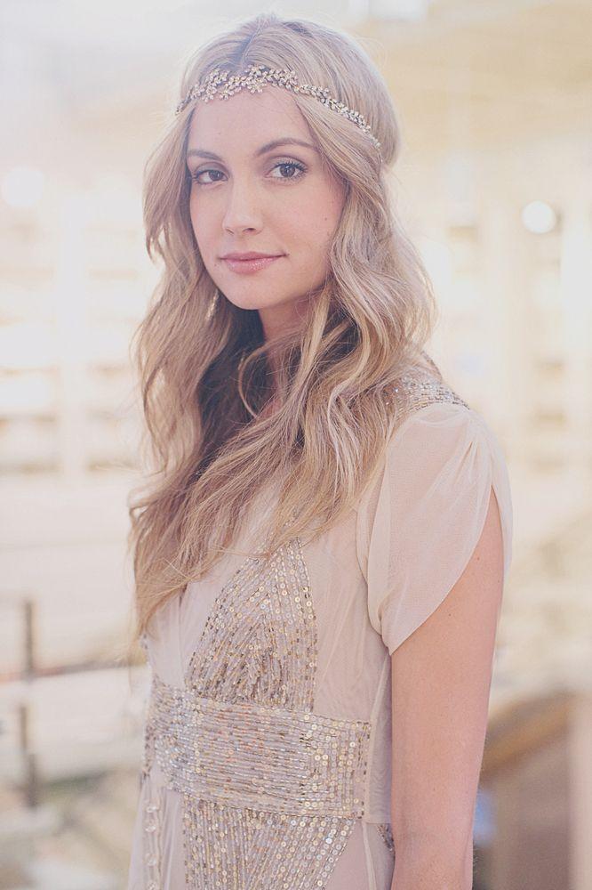 From BHLDN's LA fashion show | halo by Jennifer Behr for BHLDN