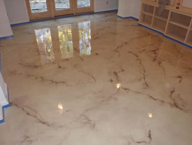 Decorative concrete polishing cleveland pittsburgh for Concrete floor covering ideas