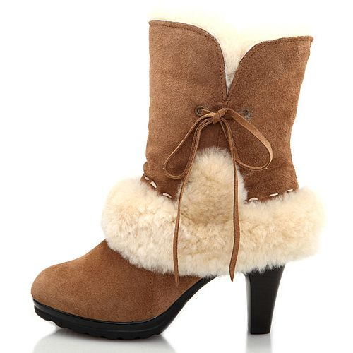 637a4616777 UGG Lace High-Heel Boots 5108 overstock ugg boots for men, women and ...