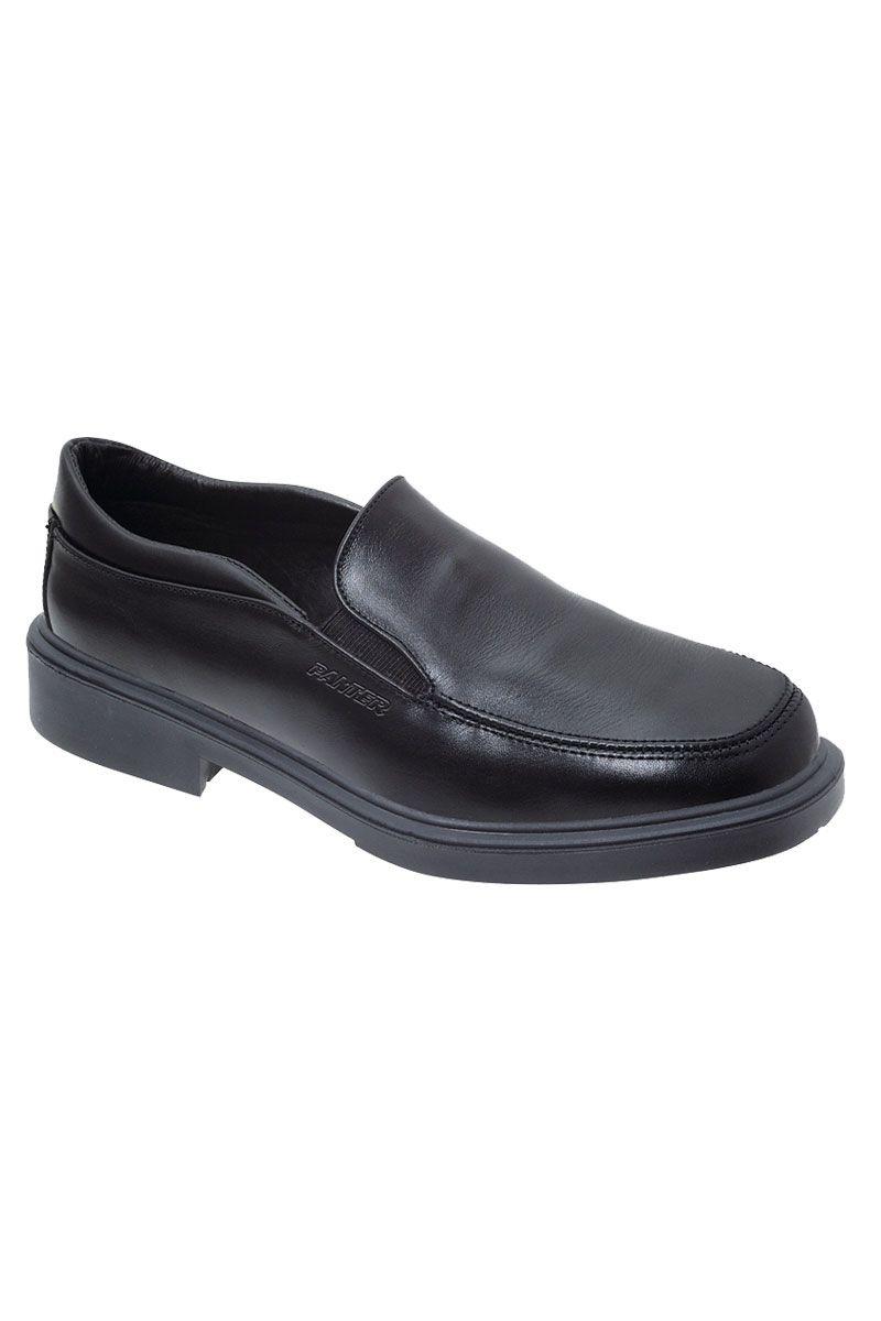 Este zapato tipo mocasín es de la firma Panter y es de piel en color negro. Es un zapato ergonómico ya que se ajusta perfectamente al pie protegiéndole de torceduras y esguinces. Se trata de un zapato antifatiga, especial para profesionales que pasan mucho tiempo de pie. #MasUniformes #RopaLaboral #UniformesDeTrabajo #VestuarioOnline #Zapatos #CalzadoLaboral
