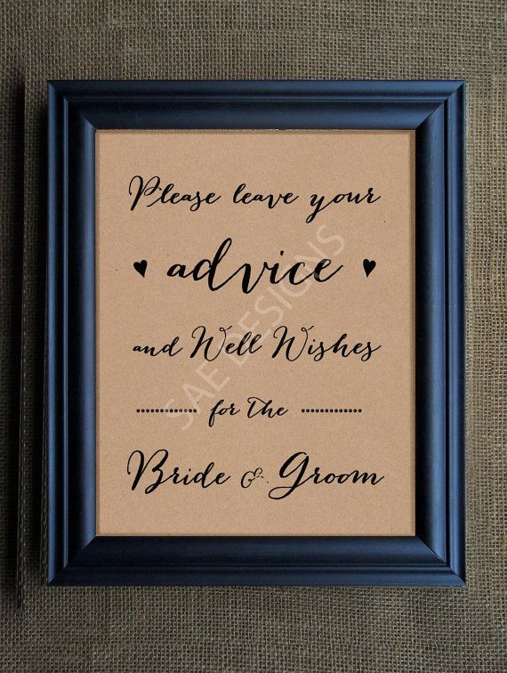 Wedding Day Advice For The Bride And Groom Sign By Saedesignstudio 4 99