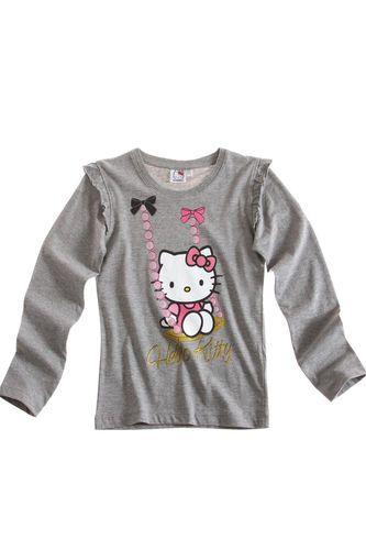 $8.62 Girl's Kids Hello Kitty Official Longsleeve T Shirt Sz Age 8 14 Grey | eBay