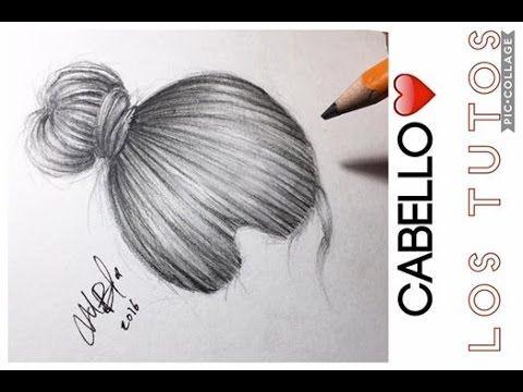 cómo dibujar cabello con lápiz de grafito / how to draw realistic