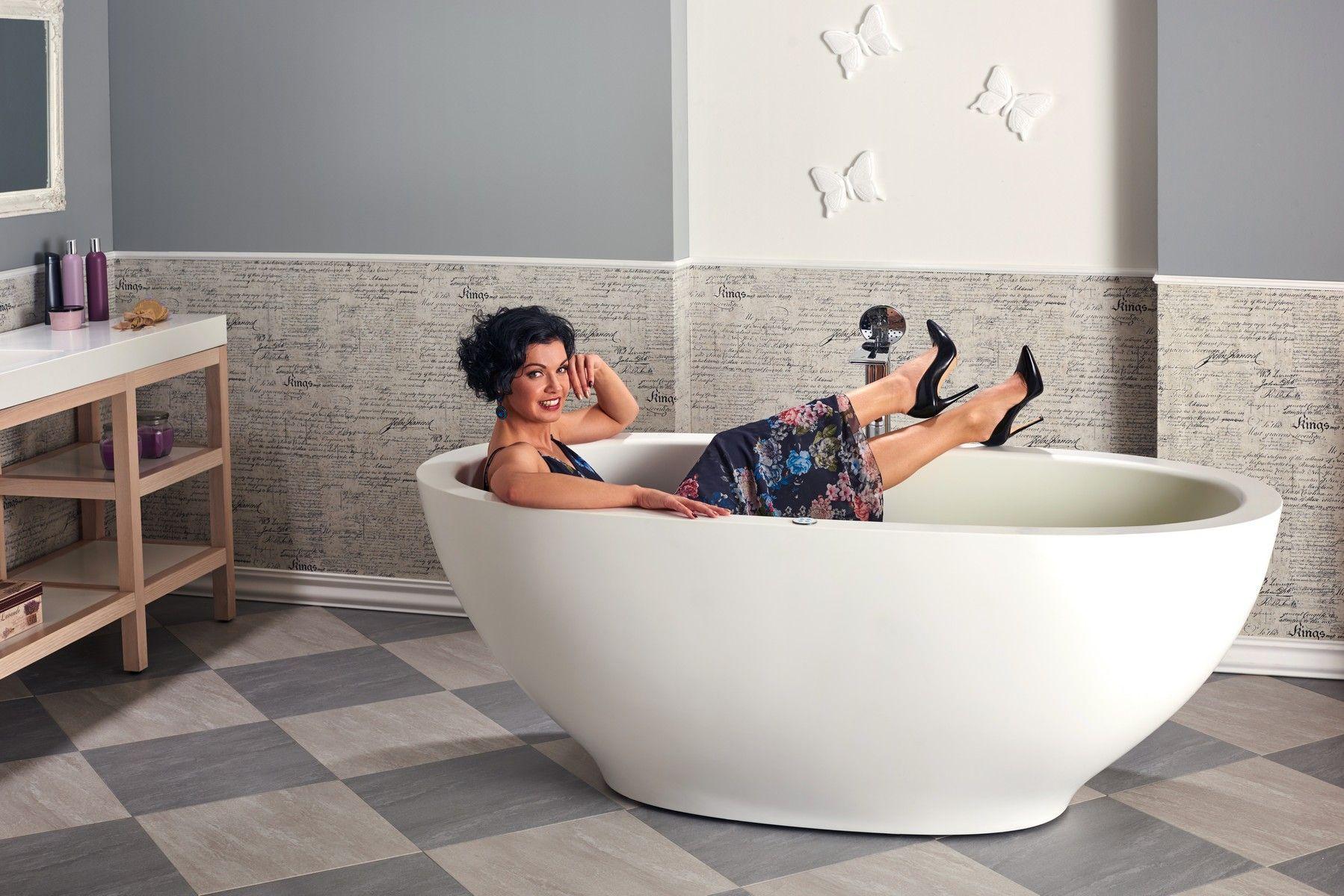 Aquatica Karolina™ Relax Solid Surface Air Massage Bathtub - Fine ...