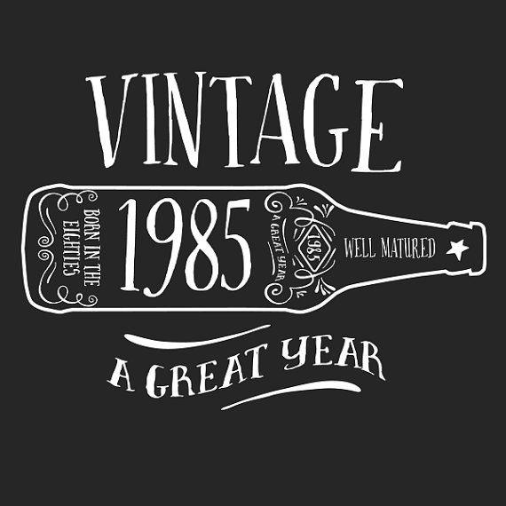 1985 to 1989 Birthday & Birth Year Vintage by