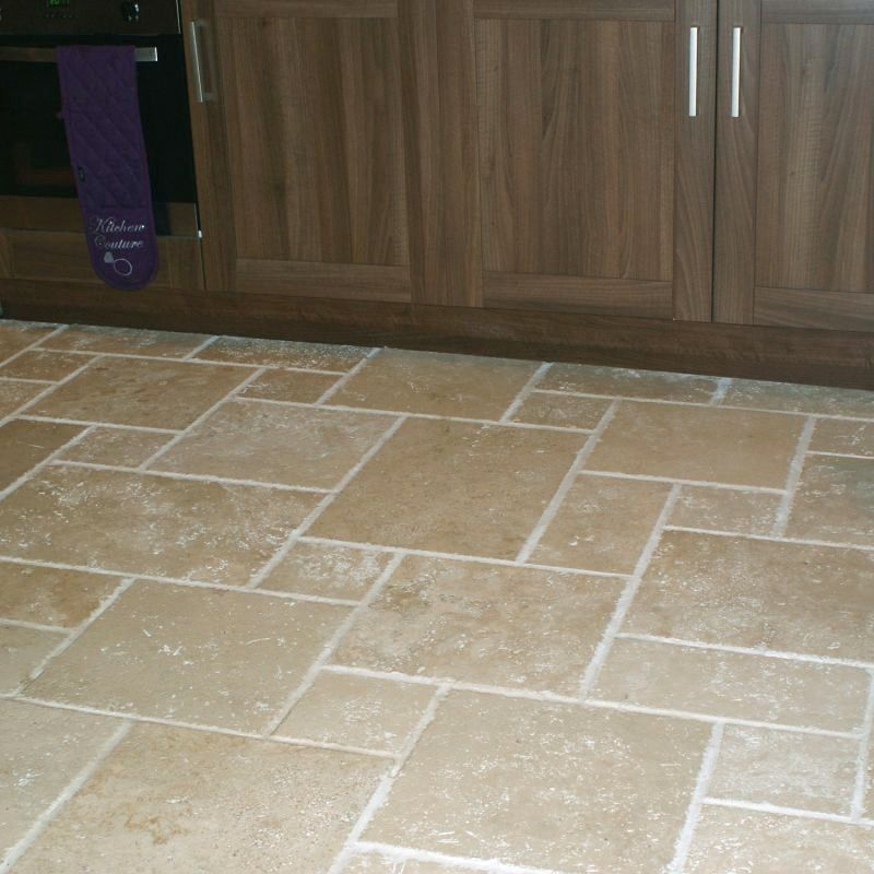 Multi Size Combination Floor Tiles Can Be Really Effective Shown Here In A Kitchen Is One