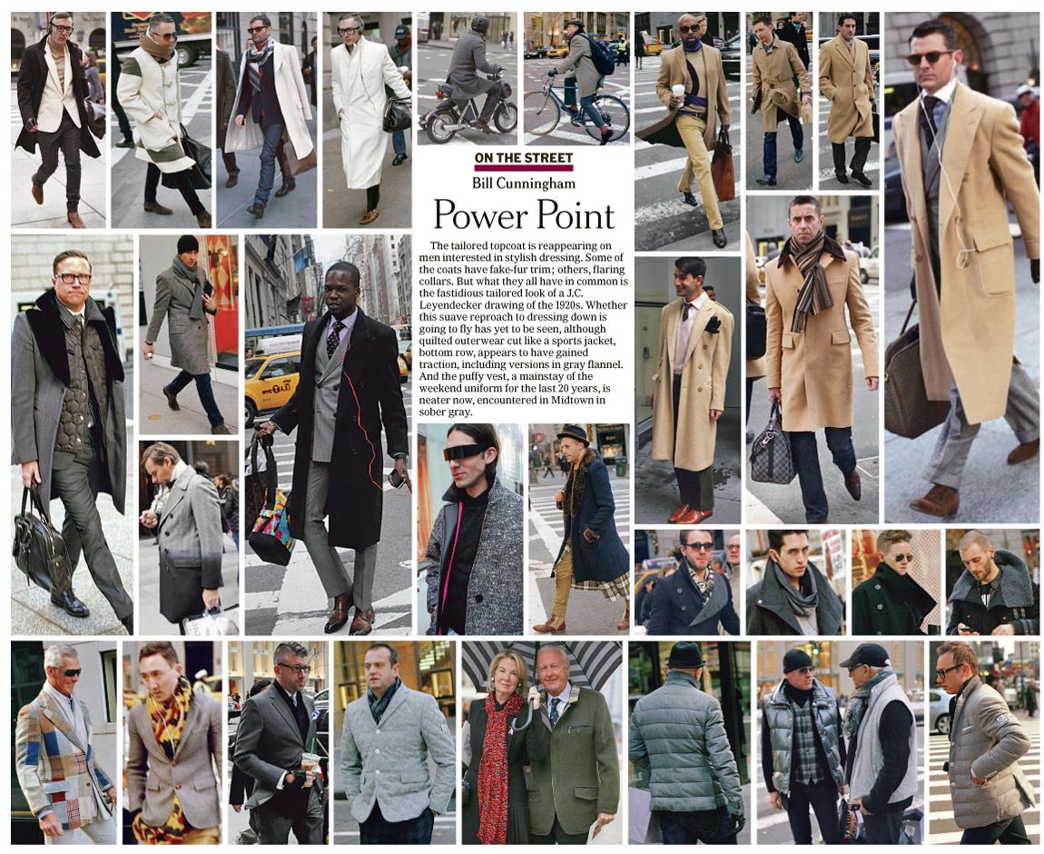 Examples of Bill Cunningham's Street Photography and editing style. The man's a genius.