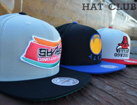 900eca49df9d7 Upside Down Snapback Caps by HALL OF FAME x MITCHELL   NESS x NBA   HAT CLUB