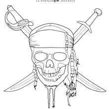 free printable pirates of the caribbean coloring page