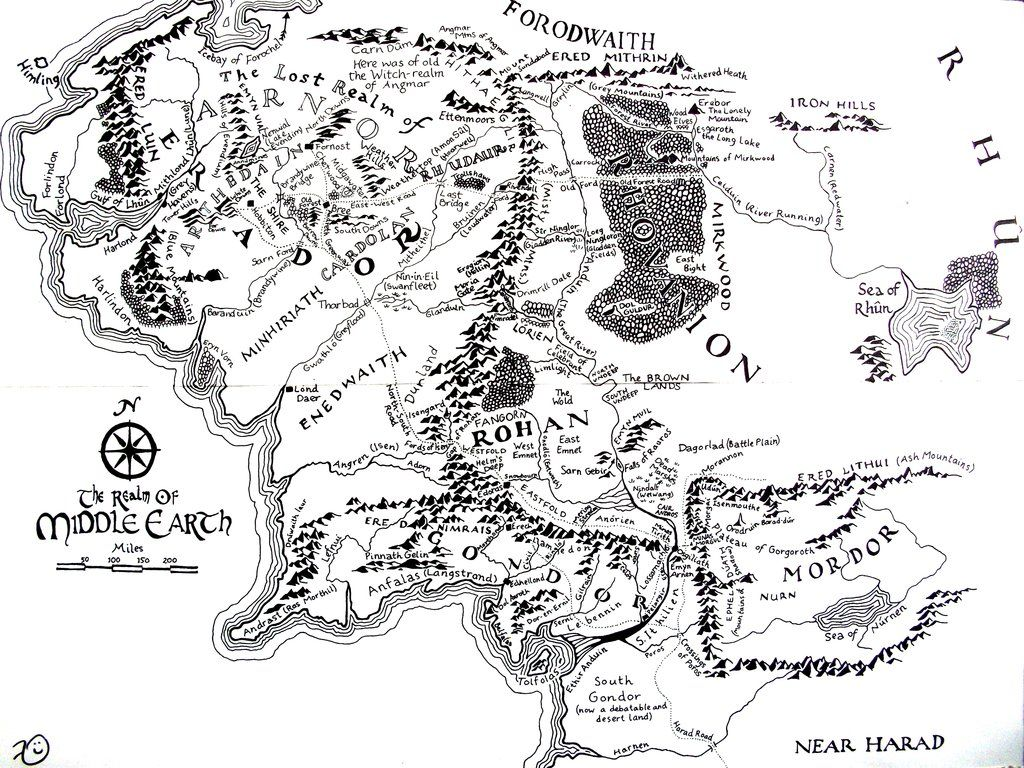 Middle earth Map by ~Kilbeth on deviantART | Fantasy Inspirations
