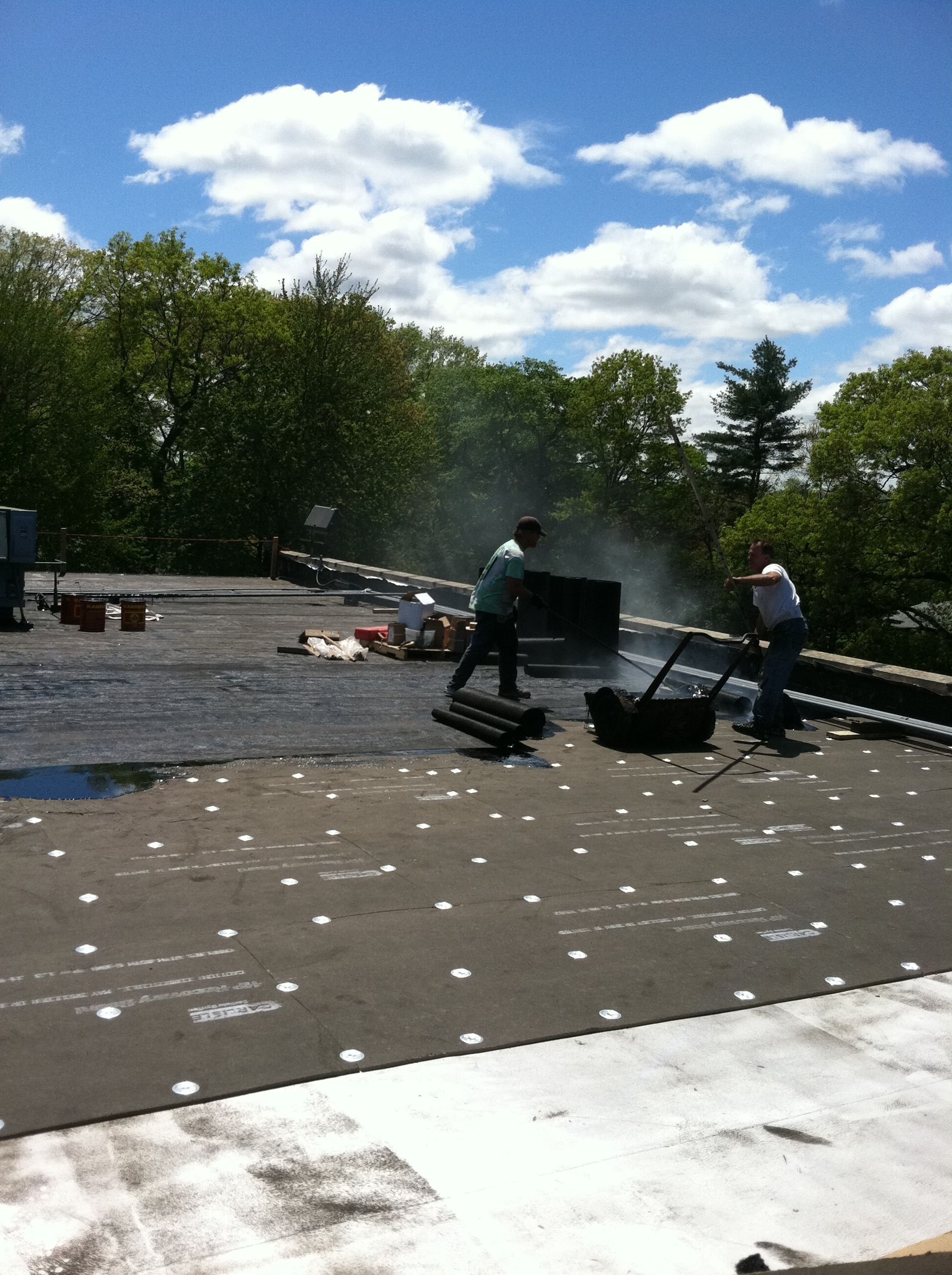 Roofing Tar Hot Tar Flat Roofing Long Island Nillcontracting