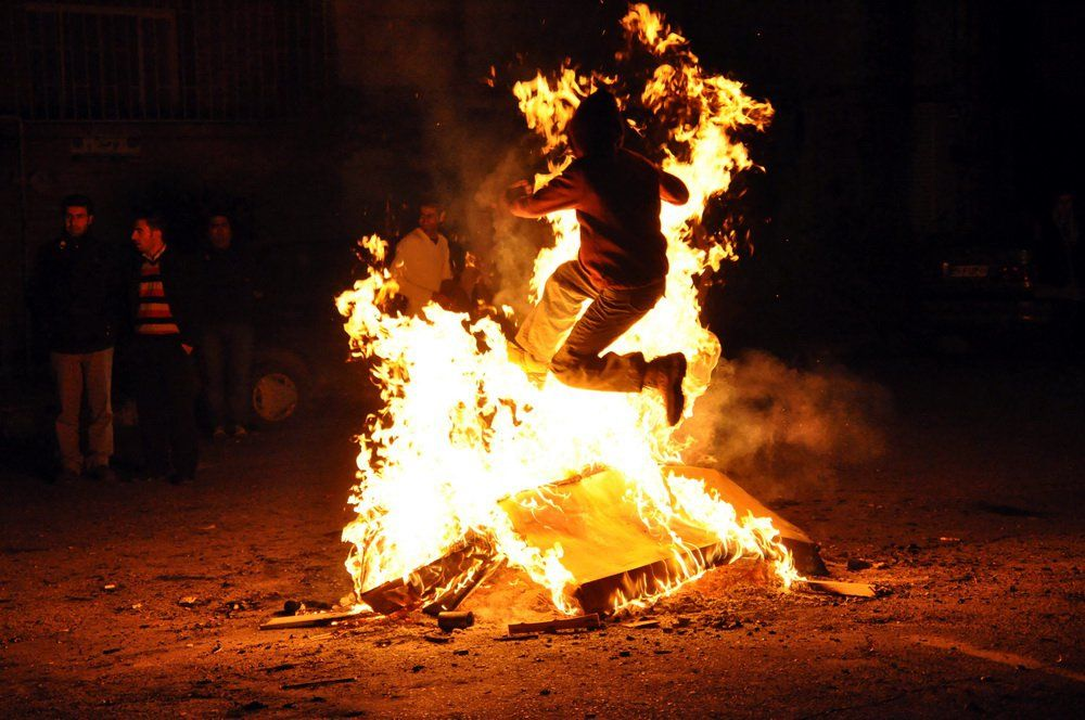 Fire Jumping Ceremony For Persian New Year Festivals Around The World Persian Culture Norooz
