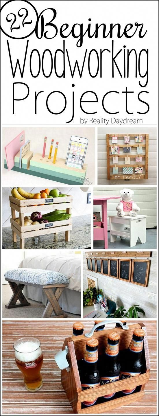 22 Insanely Simple Beginner Woodworking Projects - Reality Daydream