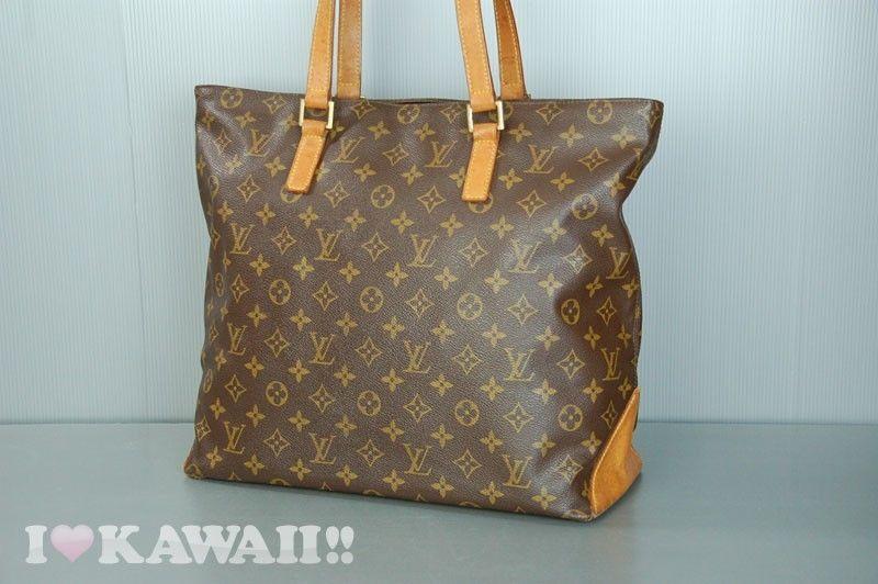 Auth Louis Vuitton Monogram Cabas Mezzo Bag Hand Purse Tote Shoulder Free Ship! #LouisVuitton #TotesShoppers