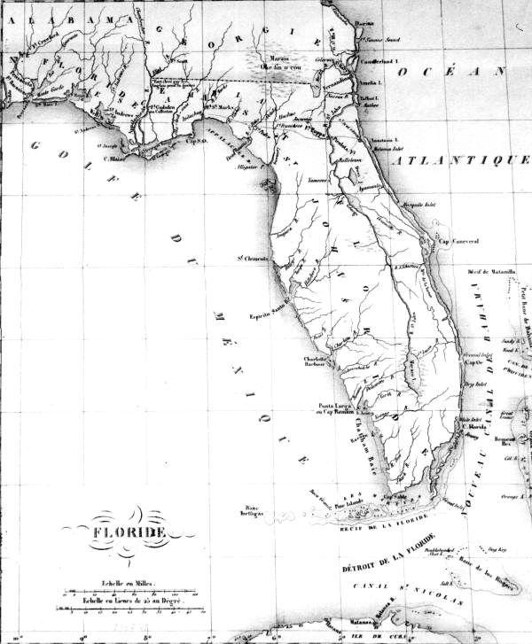 Florida Memory Map Of Florida Us Formally Takes Control Of Fl 7 - Florida-us-map
