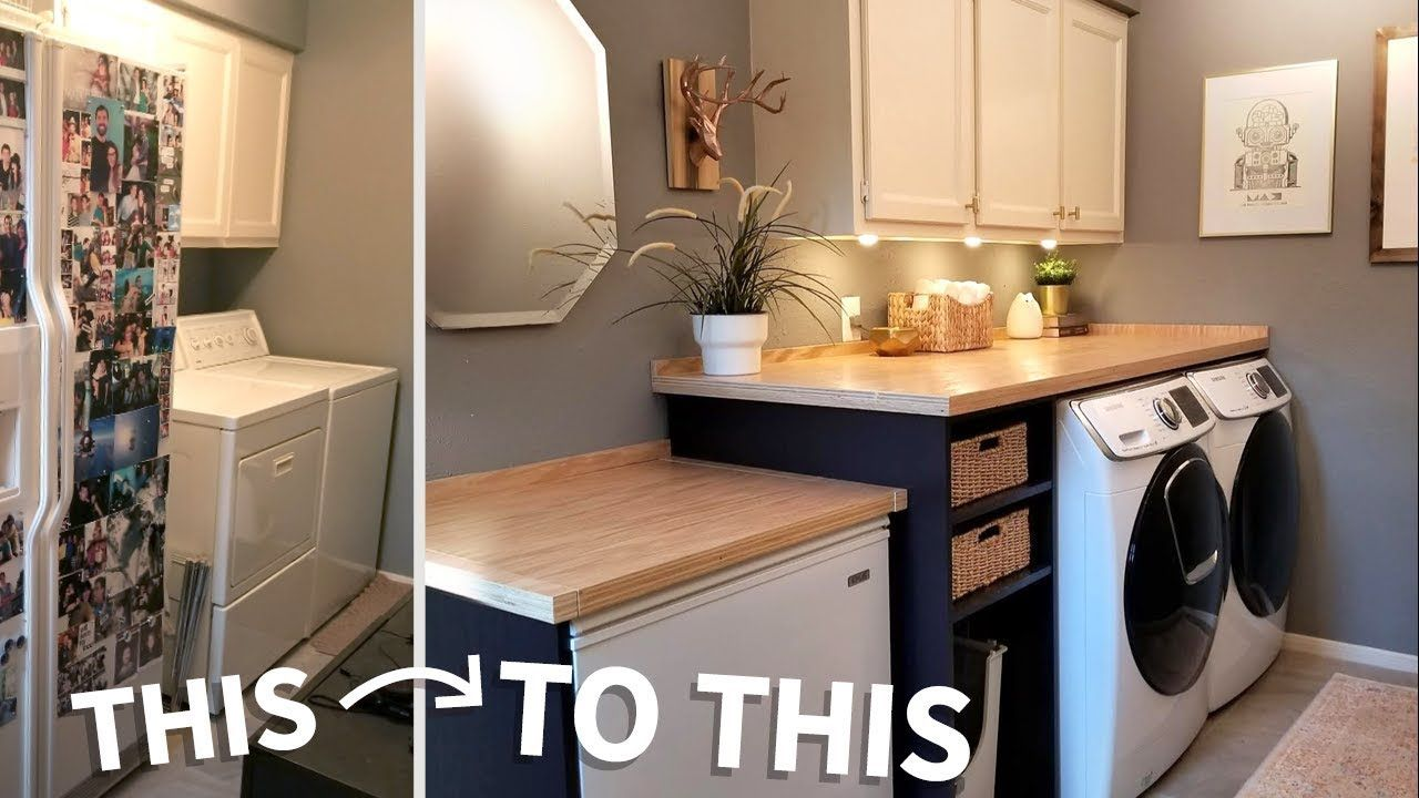 Laundry Room Makeover W Wood Countertops Wood Countertops