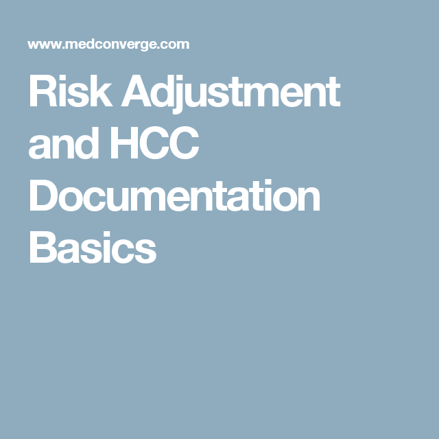 risk adjustment documentation coding