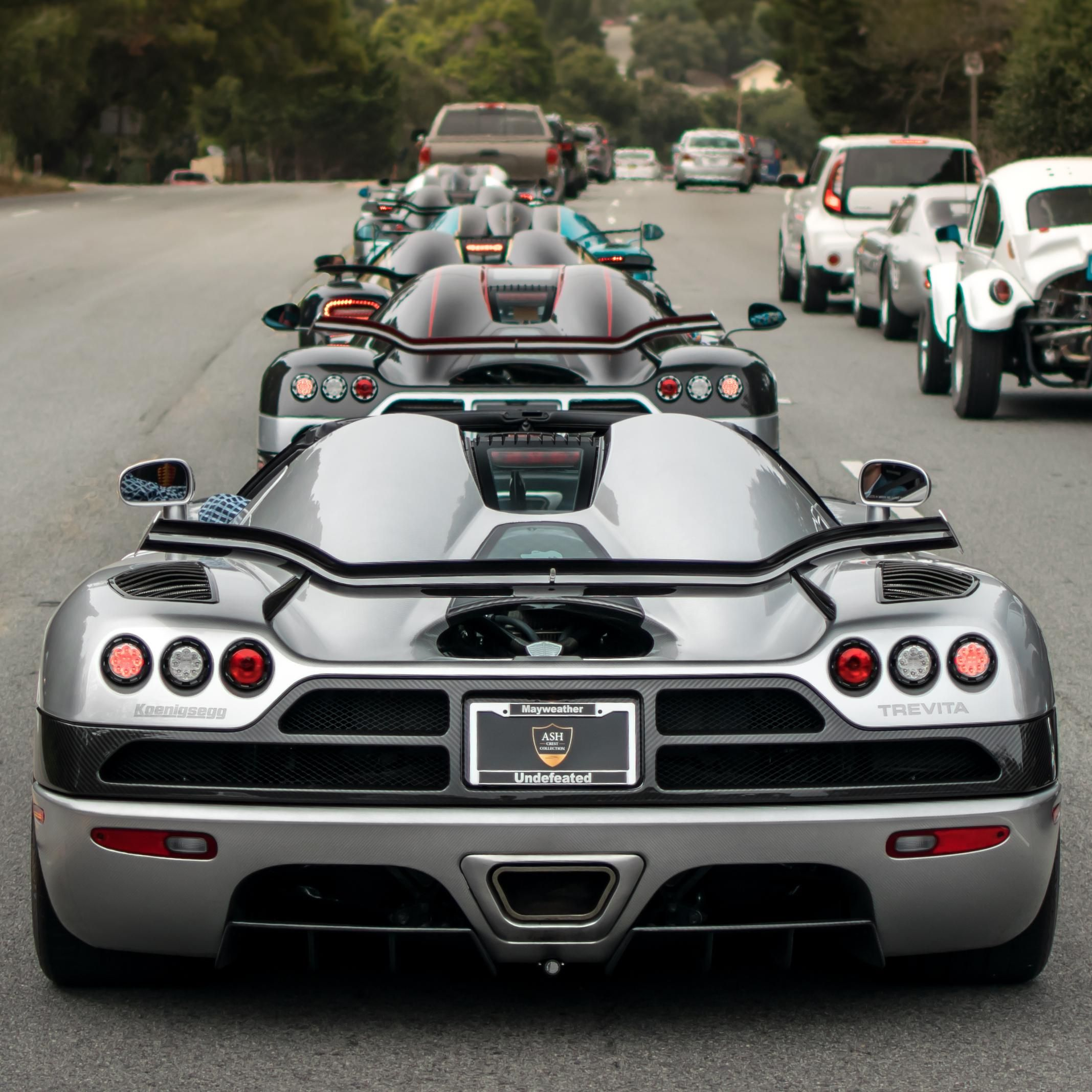 Car Week Egg Lineup! Going Closest To Farthest Koenigsegg CCXR Trevita Koenigsegg  CCX With The