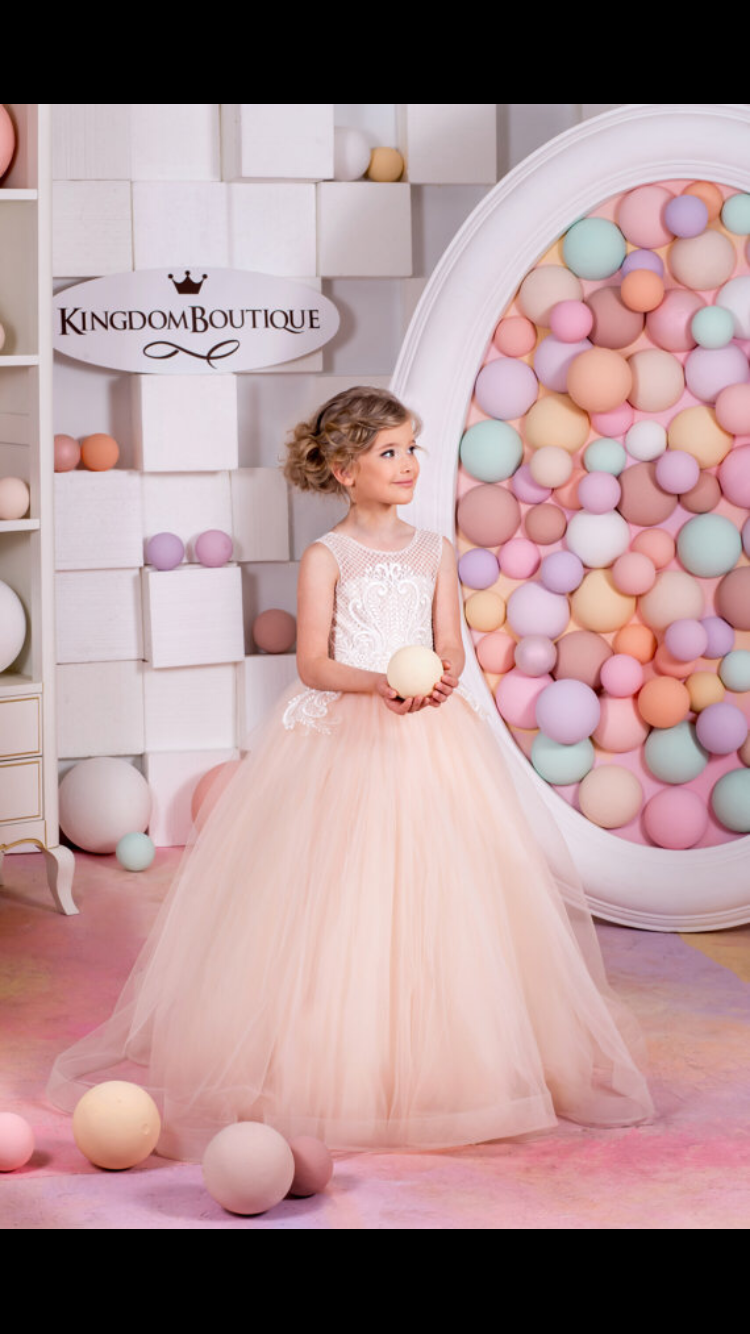 Blush Pink Kingdom Boutique children\'s gowns for special events ...