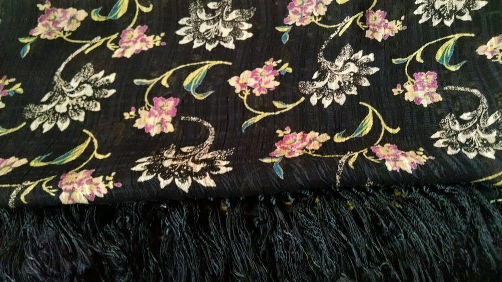 Vintage April Cornell Rayon Scarf Beautiful!! Art to Wear #AprilCornell #Scarf