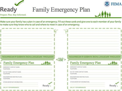 How To Make An Emergency Kit \ Have A Plan In Place - emergency contact form
