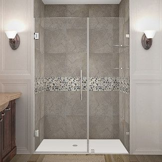 "Found it at Wayfair - Aston Nautis GS 46"" Frameless Hinged Swing Shower Doorhttp://www.wayfair.com/Nautis-GS-46-Frameless-Hinged-Swing-Shower-Door-UZO1088.html?refid=SBP.rBAZEVUKP-FMc3EDjkLQAj8rtTJRWkzxrFzW7fRZVMM"