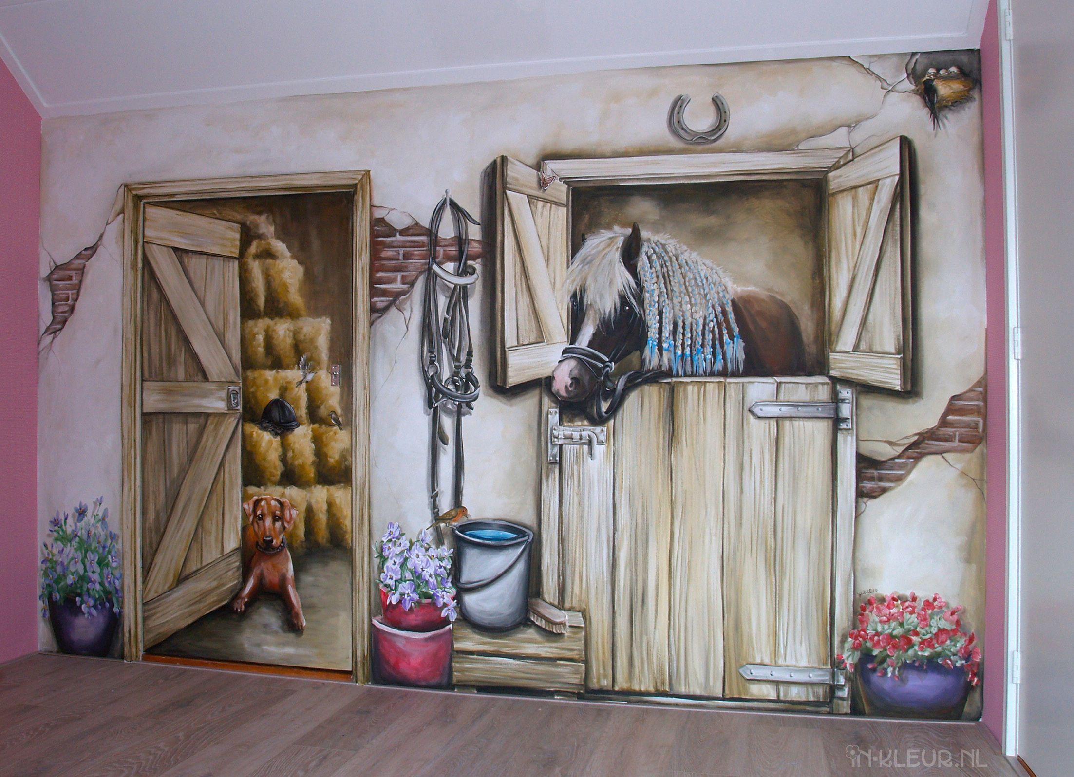 Paarden staldeur meisjeskamers in kleur y❤