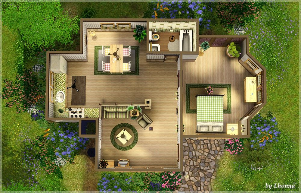 Mts Lhonna 1173981 Clover08 Jpg 1 000 640 Pixels Sims House Sims House Plans Sims 4 Houses