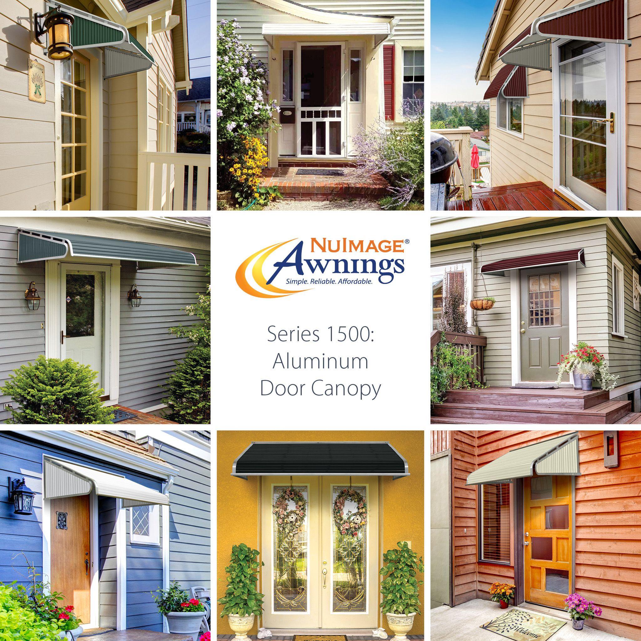 awnings awning series pin canopy aluminum nuimage door