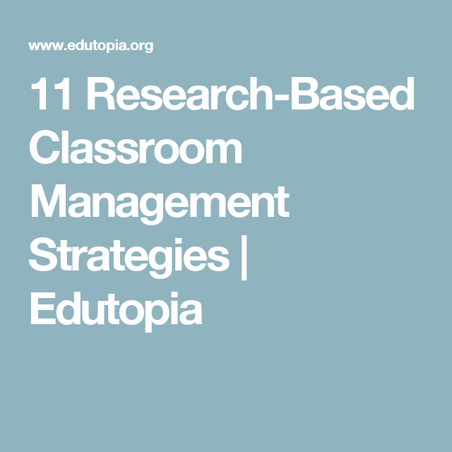 classroom management research