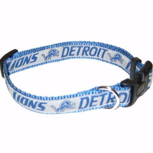 "-""Detroit Lions NFL Dog Collars"""