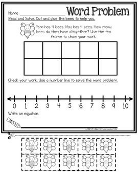 Word problem addition multiple strategies FREEIBE page