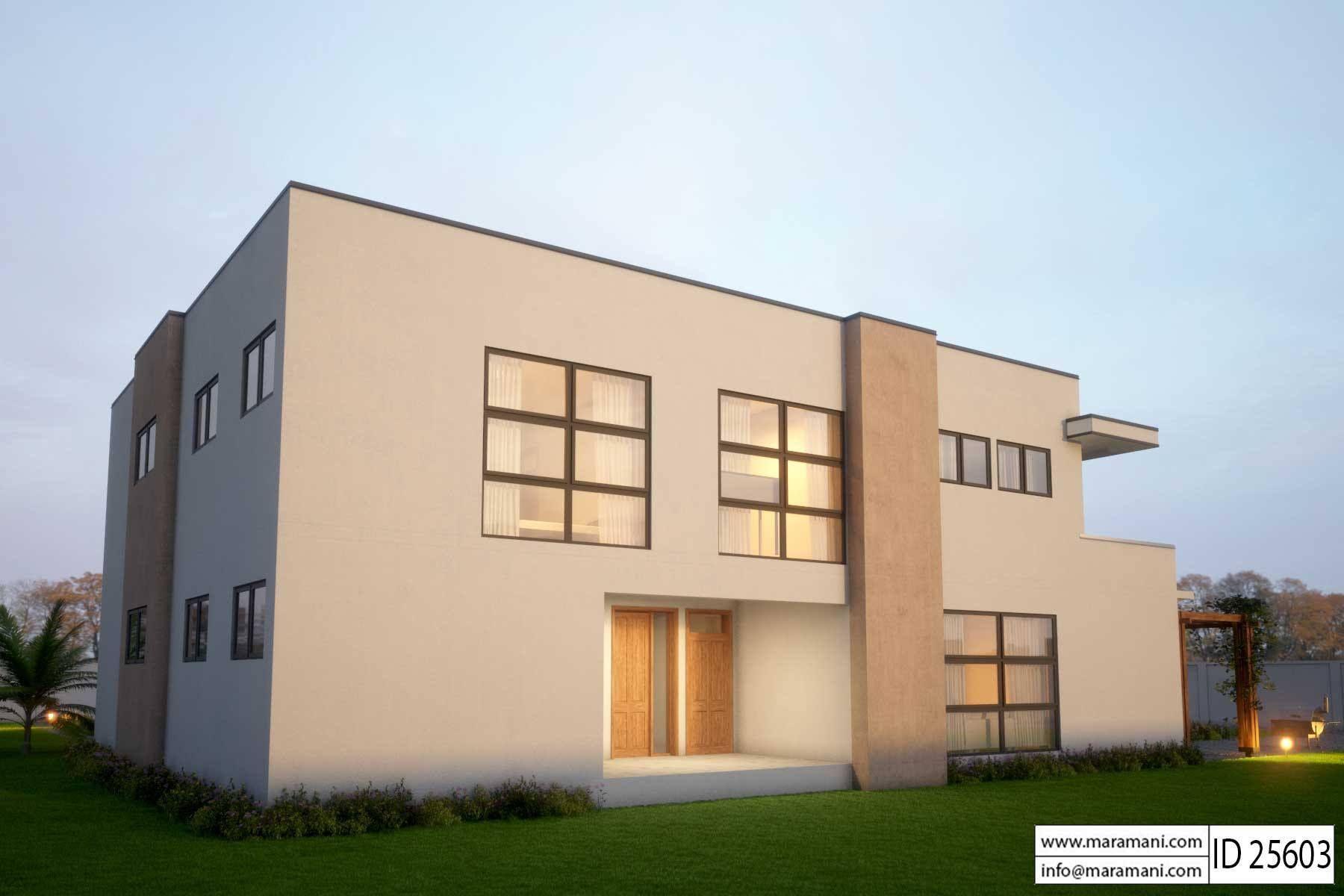 Modern 5 Bedroom House Design - ID 25603 - Floor Plans in ...