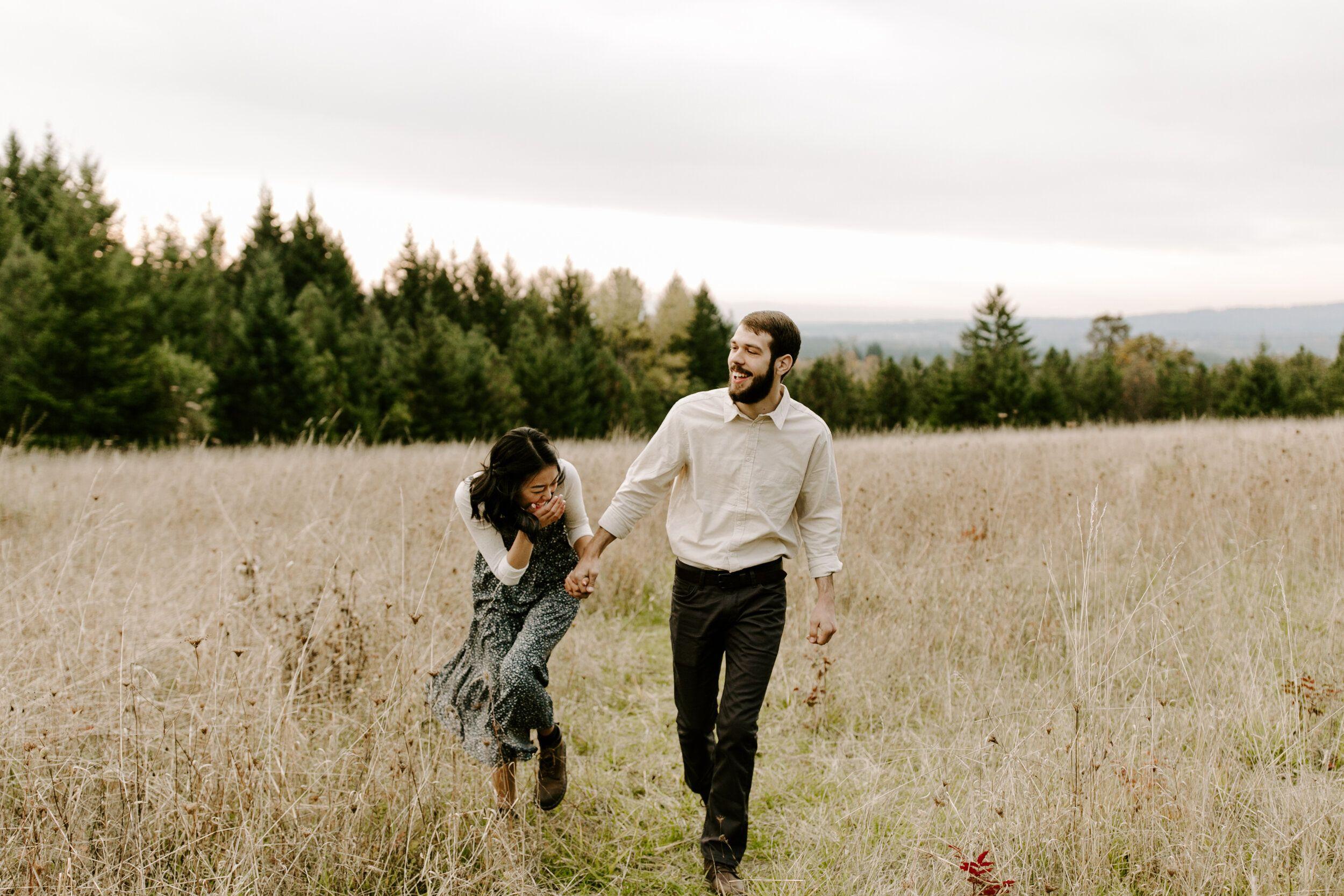 Vanessa & Jonathan Engagements Cooper Mountain Nature