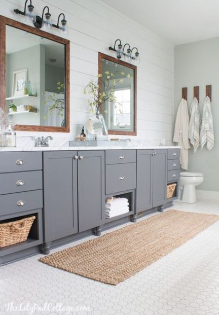 Photo of 36 ideas for gray lights in the farmhouse bathroom
