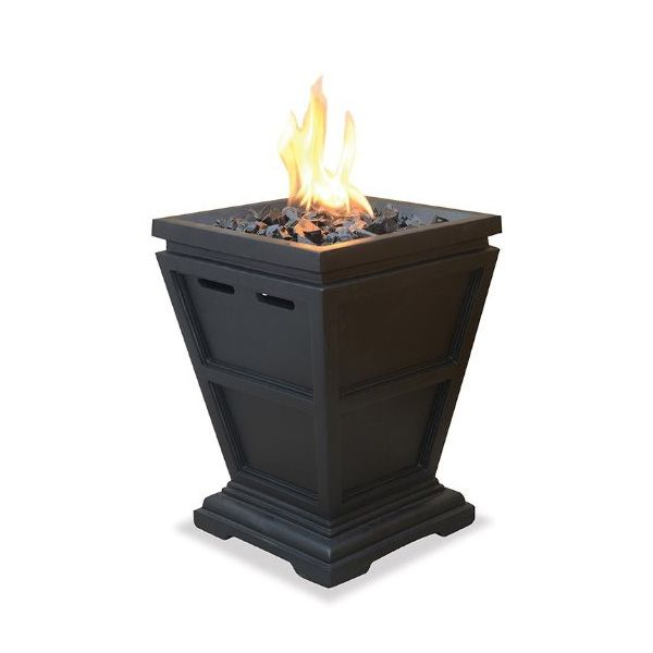 Uniflame Lp Gas Outdoor Table Top Fireplace With Images Gas Firepit Small Fire Pit Tabletop Fireplaces