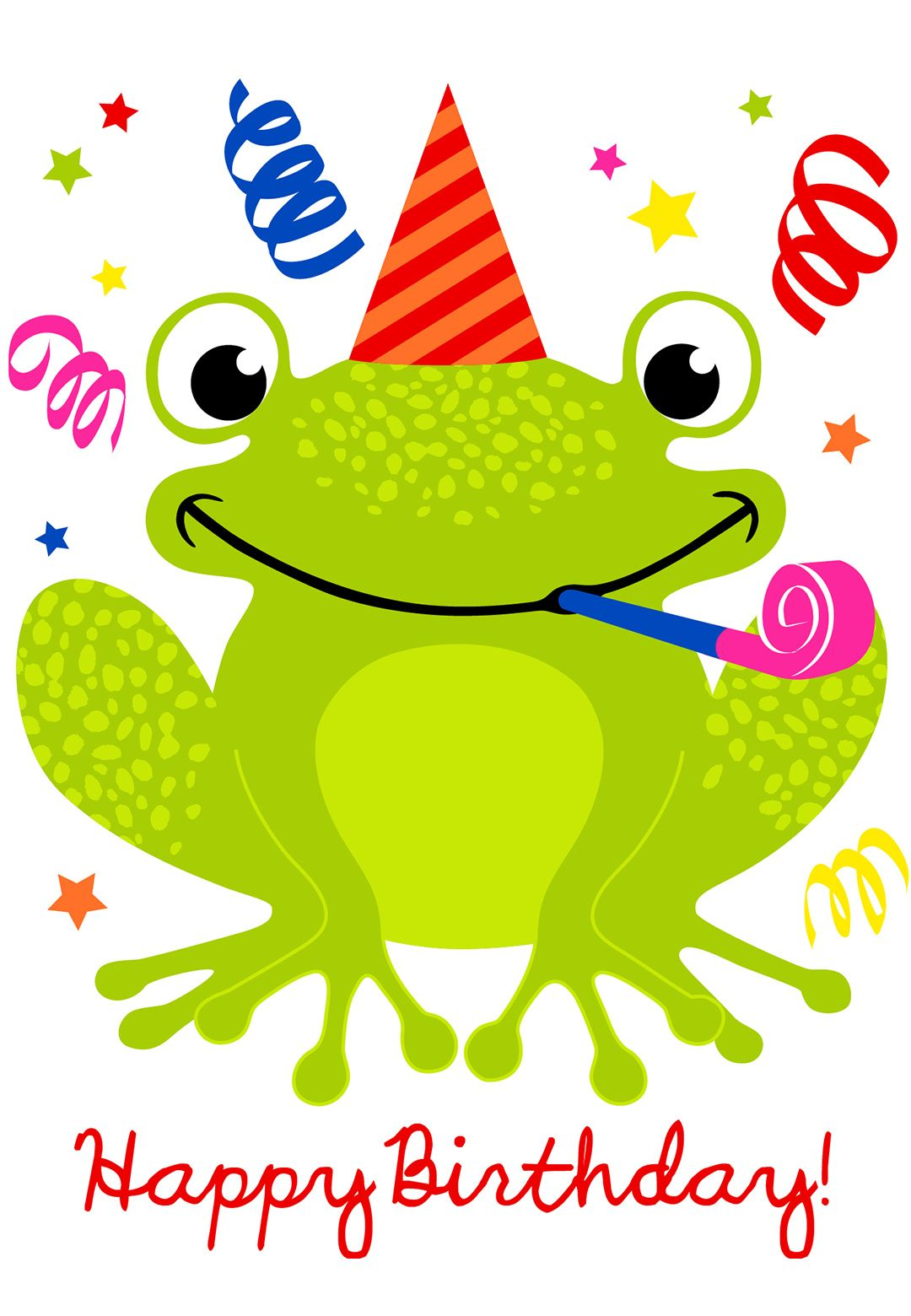 Free Printable A Happy Hopping Birthday Greeting Card – Birthday Greeting Pictures Free