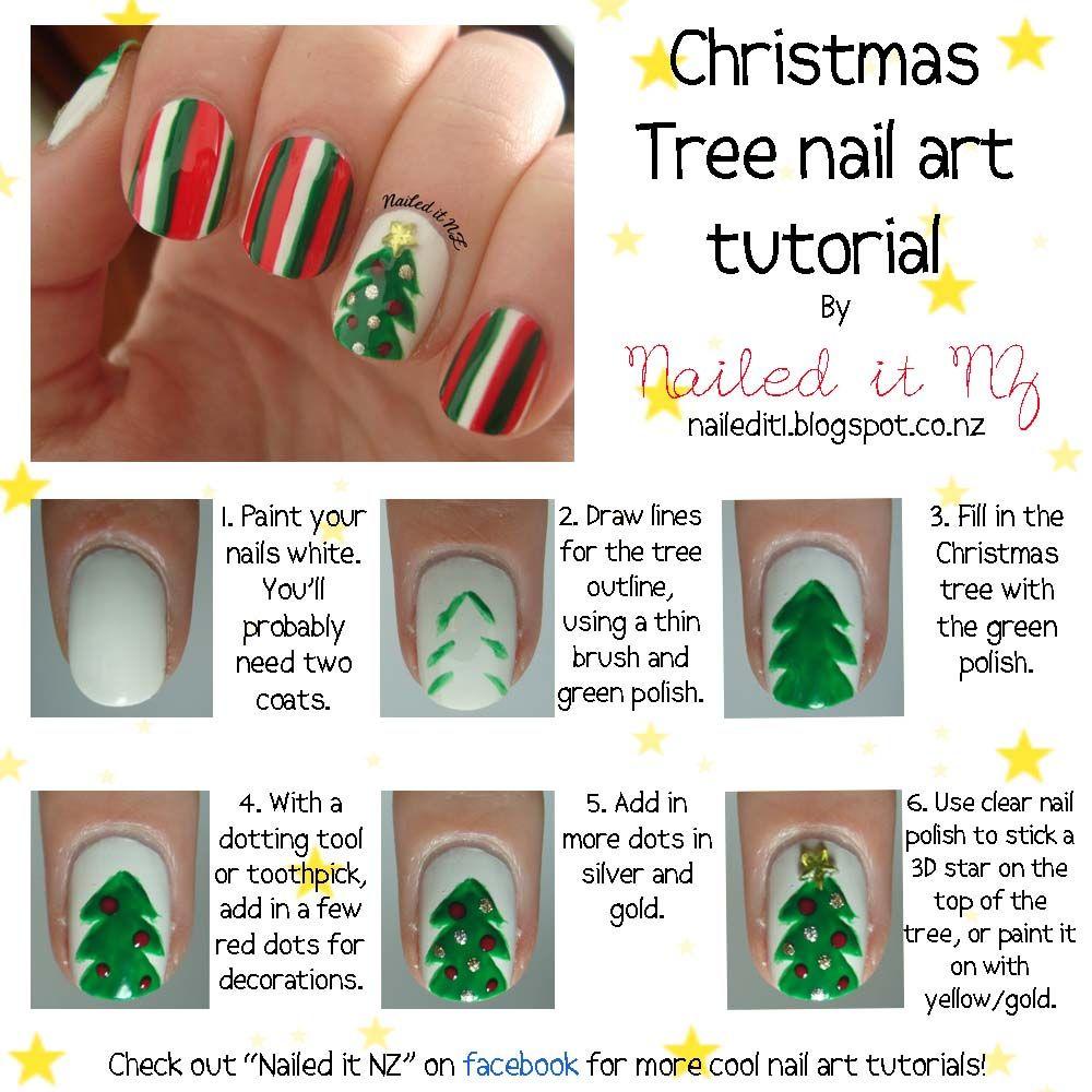 36 Wonderful Christmas Nail Art Designs Wonderfuldiy Com Follow Us On Fb Https Www Facebook Com Wonder Tree Nail Art Christmas Tree Nails Xmas Nail Art