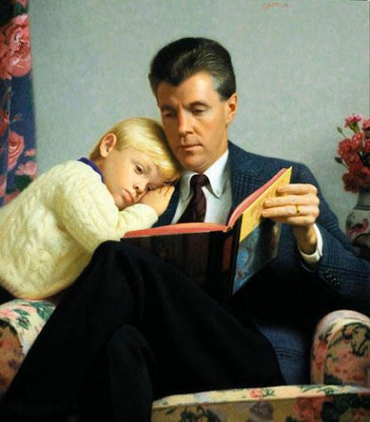 Tyler And Dad - Storytime by Stephen Gjertson.