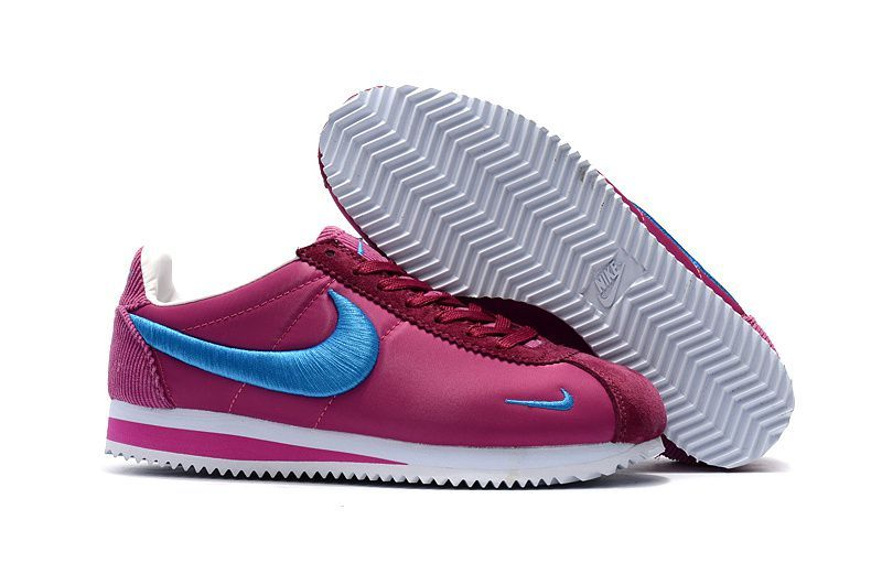new style b6d61 eaa9e nike classic cortez youth nike classic cortez ultra rose et bleu femme