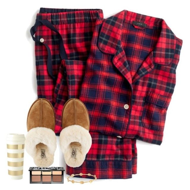 """""""~ChRiStMaS hAuL~"""" by abby14310 ❤ liked on Polyvore featuring J.Crew, UGG, Sephora Collection, Melinda Maria and Kate Spade"""