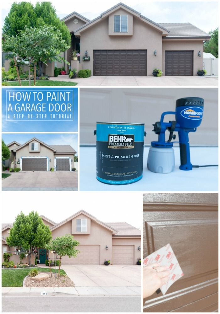 How To Paint Garage Doors And Add Curb Eal Your Home