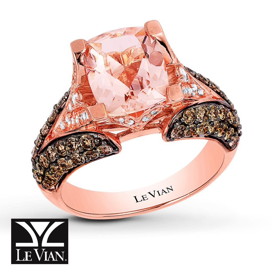 mark morganite gold michael bands engagement rose diamond ring gallery designs chocolate
