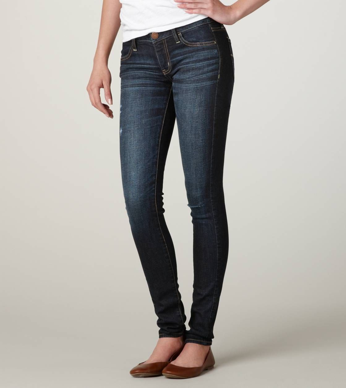 AEO Denim X Cafe Hi-Rise Jegging. American Eagle JeansAmerican ... - American Eagle Skinny Jean PURE DARK INDIGO Style $39.95 Regular