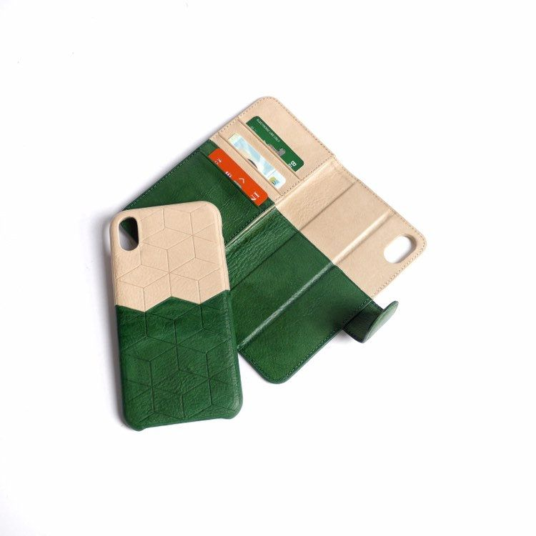 Leather wallet case 2 in 1 for iphone xr leather wallet